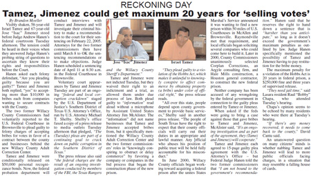 Willacy County commissioners face charges