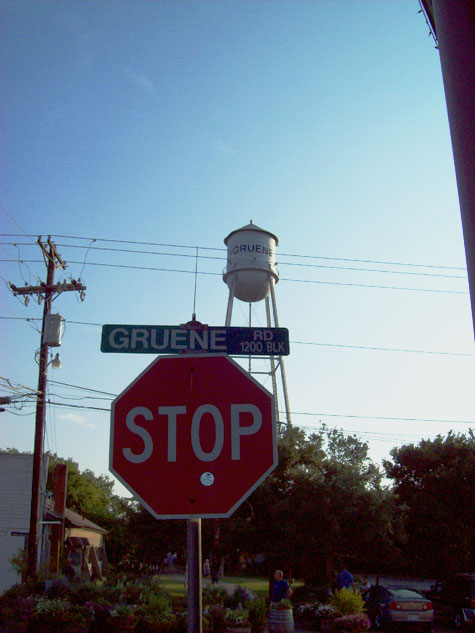 The trip included, of course, a pilgrimage to Gruene.