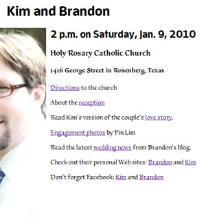 Firefox 3.5.5 (PC): This is how Typekit displays our wedding Web site on the browser of my choice.