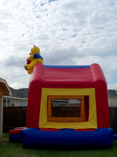 We even got a bouncy castle.