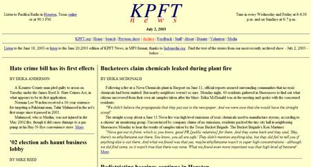 KPFT News show 77
