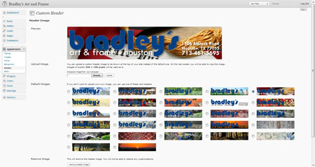Bradleys header designs