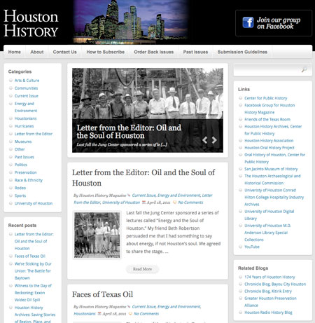 The new Houston History Magazine website