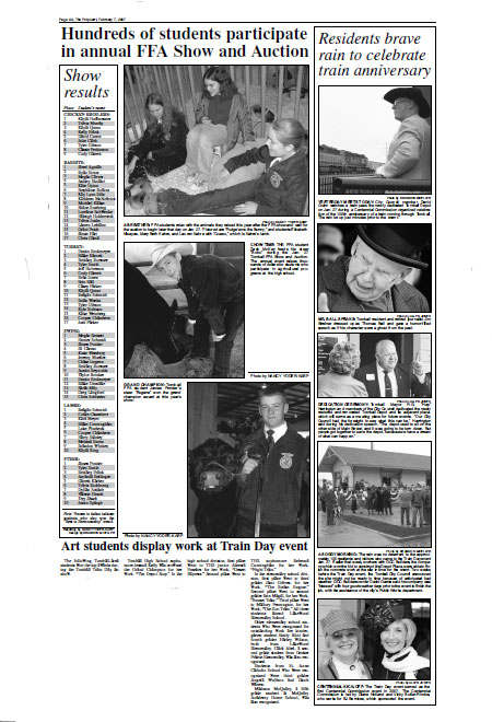 Tomball Potpourri news page layout