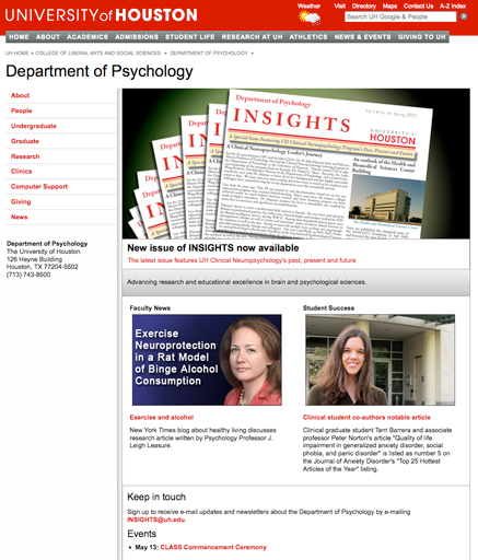 Department of Psychology homepage