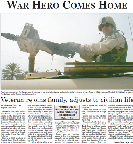 War hero comes home