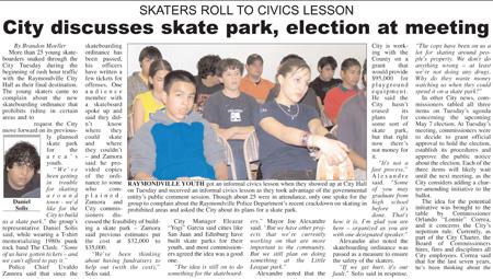 Raymondville skaters