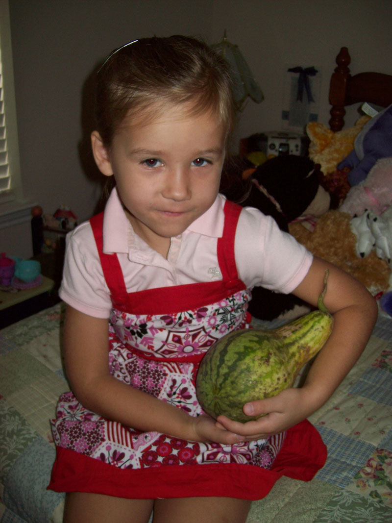 Corina with the 2009 watermelon