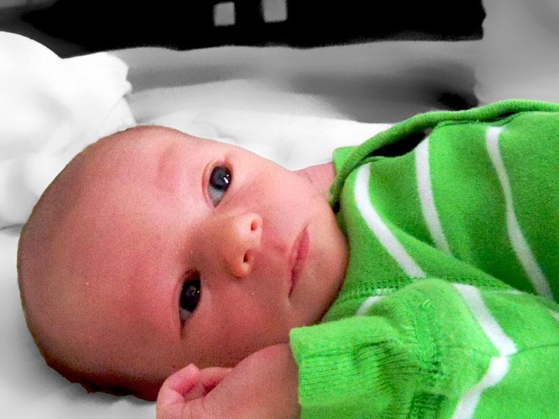 Main photo for birth announcement
