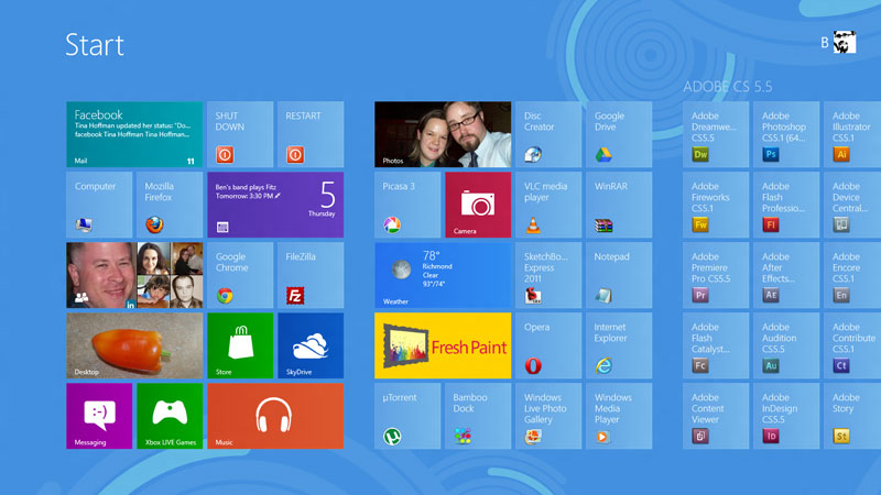 """The much-talked about """"Metro"""" interface updates the most popular desktop OS so that it resembles Android and IOS."""