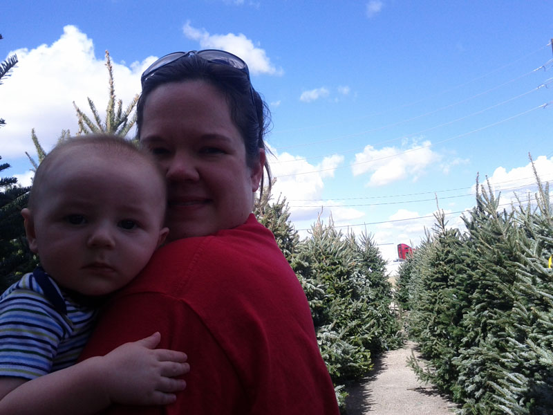 Marshall joined us for our annual Christmas tree hunt.