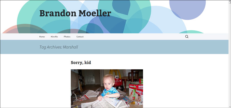My blog, in the Twenty Thirteen Blue theme, by Joen Asmussen