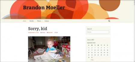 A screenshot taken today of my blog after activating the Twenty Thirteen default theme for WordPress 3.6.