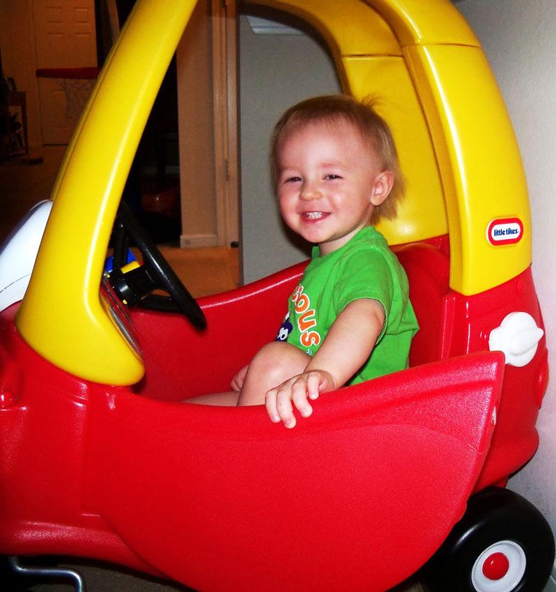 Marshall loves his car.