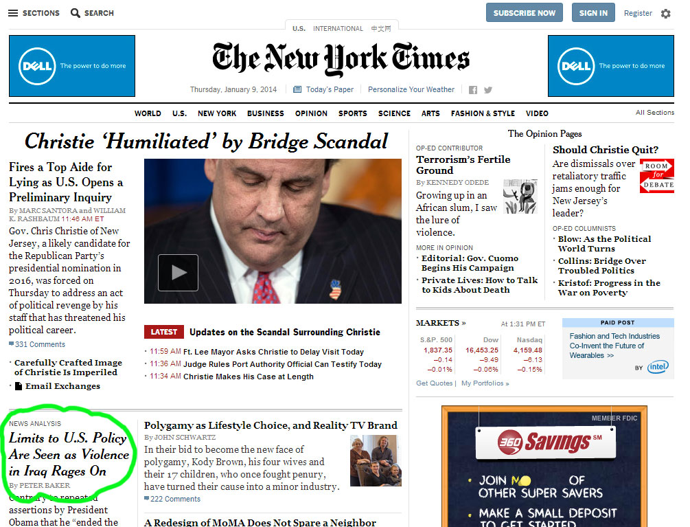 The New York Times launched a website redesign today, the first of this scale since 2006.